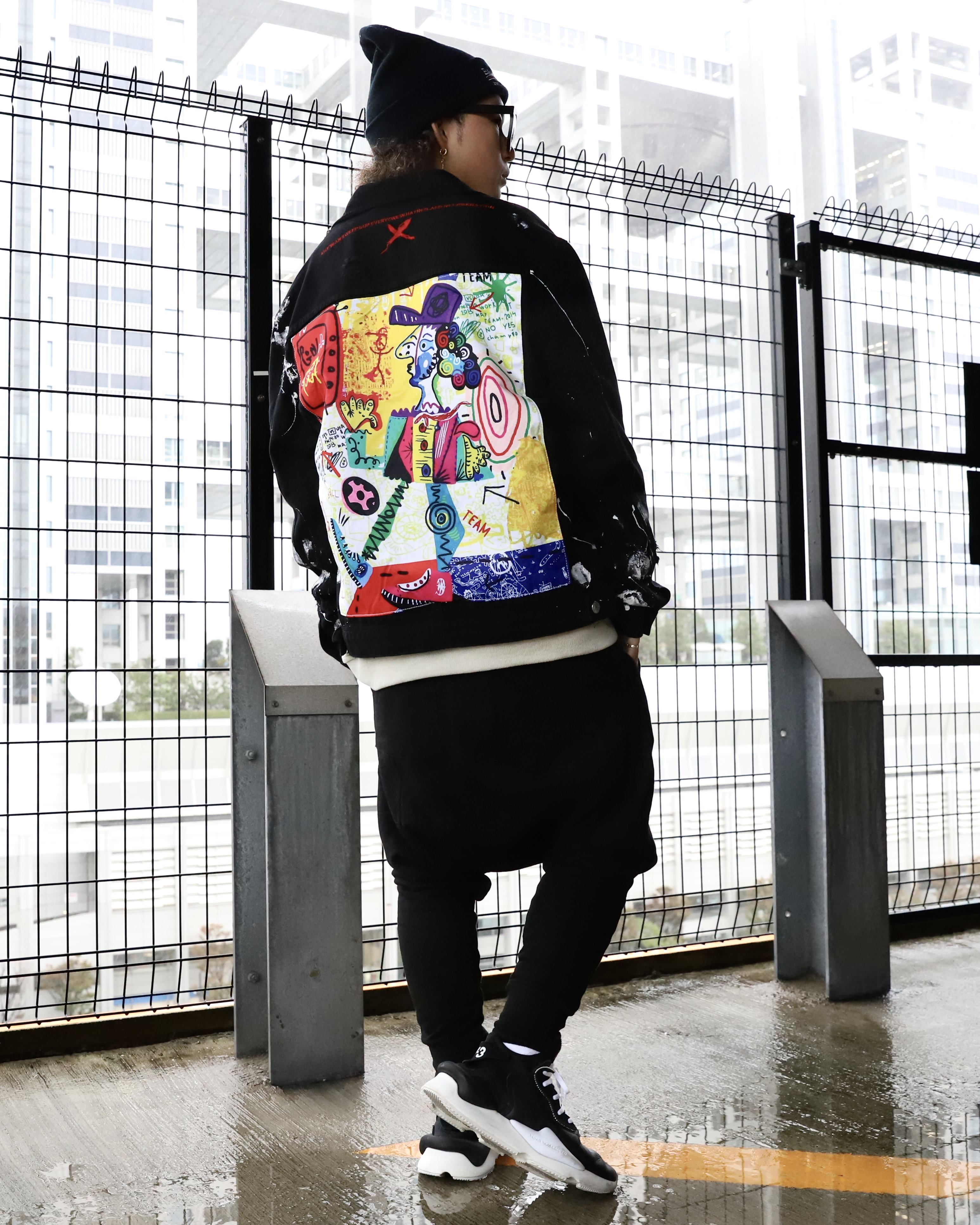 グラフィティバックブラックデニムジャケットの画像6